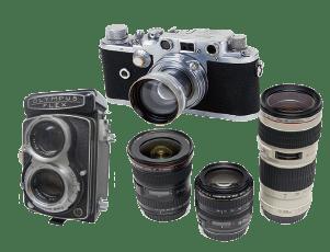 古く汚れたカメラ