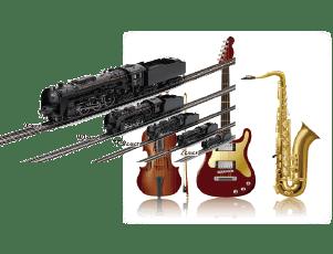 古い楽器・趣味の鉄道模型