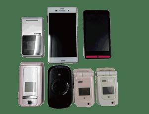 古い携帯・スマホ